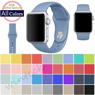 Replacement Silicone Soft Sport Band Strap Accessories For Apple Watch 42mm 38mm
