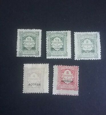 Portugal Azores postage due stamps overprinted Acores