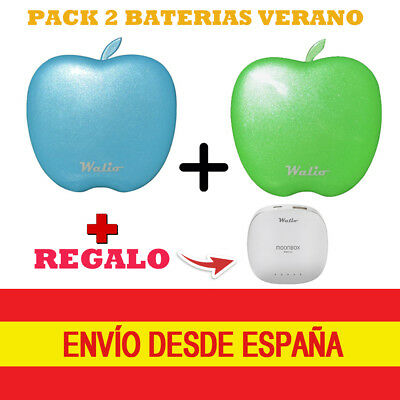Pack Power Bank - 2 Power Bank (Batería externa) +REGALO 1 Bateria + Accesorios