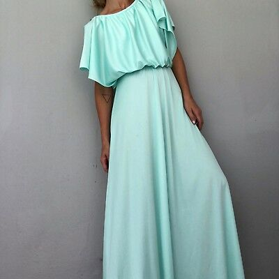 Vintage Light Blue Maxi Dress Size Small