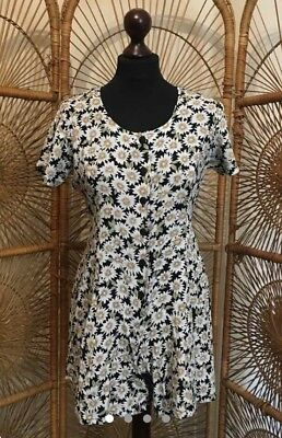 Vintage Daisies Daisy Print Palysuit Romper Size S Small 8 10