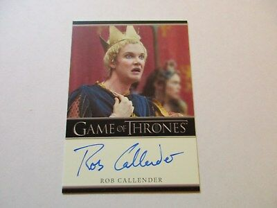 Game of Thrones Season 7 - Rob Callender as Clarenzo Autograph Card