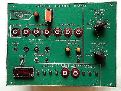 Vintage Fire Extinguishing System Aircraft Tu-154 Panel