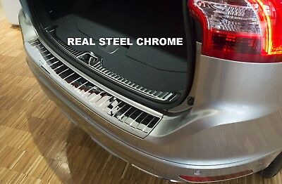 Skoda SuperB II Rear Bumper Protector Chrome Cover Stainless Steel 2008-2014