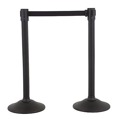 Security Barrier Sentry Stanchion with Retractable Belt 2-Pack US Weight