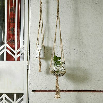 Modern Plant Hanger Planter Basket Hanging Jute Rope Pot Holder Macrame Braided