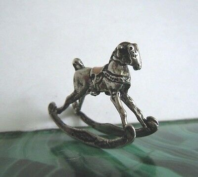 RARE imperial Russian 84 Silver Toy rocking Horse Faberge design