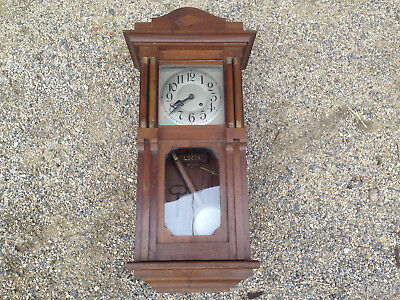 antique small chime wall clock movement LUCCA 1 hammer french antique