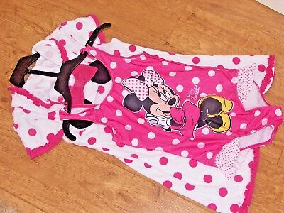 Genuine Disney Girls 2/6 years Minnie Mouse One Piece Swim Suit & Cover Up Set