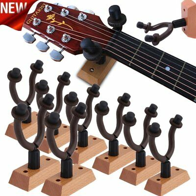 Lot Guitar Wall Mount Hanger Stand Holder Hook Display Acoustic Electric Bass AS