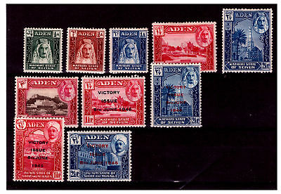 Aden Selection Stamps. Mounted With Hinge. #2030