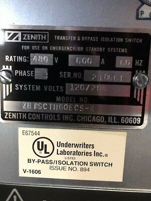 Zenith Automatic Transfer & Bypass Isolation Switch