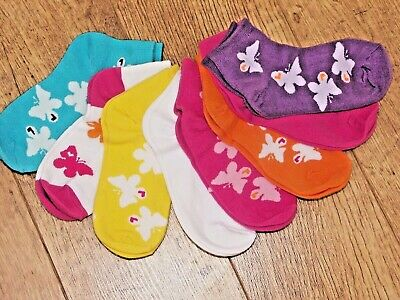 Socktopia girls 8 pack combeb cotton ankle socks fantastic quality 2 size BNWT