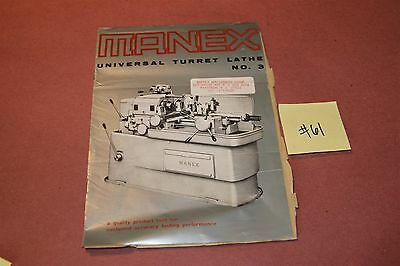 Manex  Lathe Original Catalog #3  Lot # 61