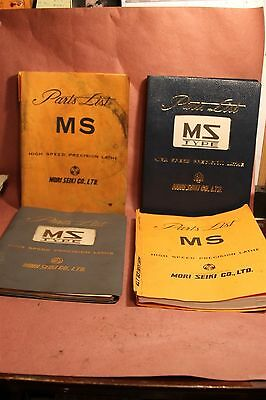Mori Seiko MS Lathe Parts List  Manual 1 PER LOT pick