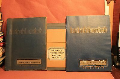 Norton Instruktions Book for # 2 Grinder Operation & Maintenance Manual GERMAN