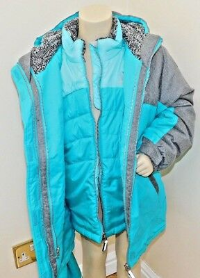 75a465801 Girls Zeroxposur/Gerry 3 In 1 Jacket New With Tags Grey/Teal & Grey