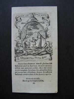 Kupferstich GERMANUS - holy card , santino - etching , gravure (#HA2#)