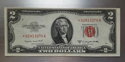 1953 B $2 Red Seal Legal Tender -- STAR NOTE