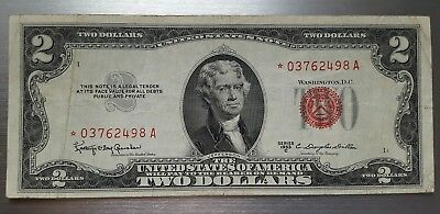1953 C $2 Red Seal Legal Tender -- STAR NOTE