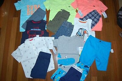 NWT Boys 2T Huge Spring Summer 15 Piece Lot CARTER'S JUMPING BEANS