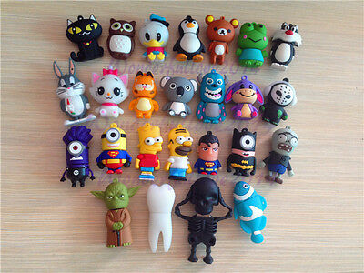 USB 2.0 64GB 32GB Flash Memory Stick 25 kinds Cartoon Cute Animal Pen Drive Lot