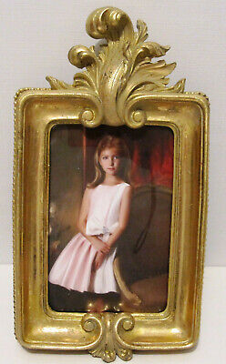 """Ornate Gold Antique Looking Leaf French Style 4""""x6"""" Picture Photo Frame"""