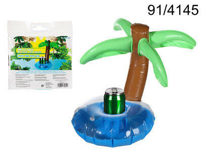 Inflatable Palm Tree Can Drink Holder Party Bath Swimming Pool
