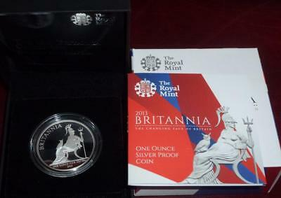 2013 SILVER PROOF Britannia in Royal Mint box with certificate