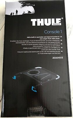 Thule Stroller Organizer, Console 1, Cup holder and zippered pocket, black