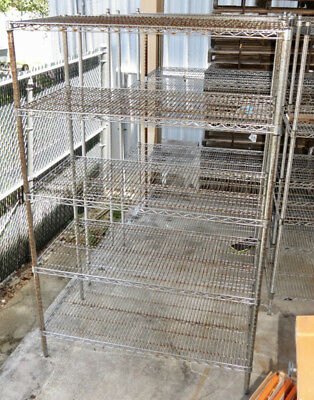 Heavy Duty Commercial Wire Storage Rack 48x24x74 Warehouse Garage Food Shelving