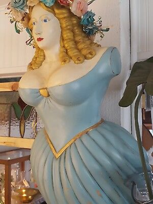 Antique Replica Clipper Ship Figurehead Jenny Lind - Solid Wood & Hand Painted
