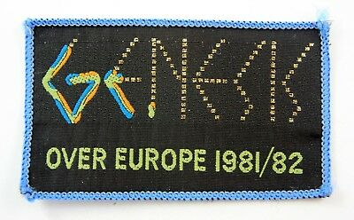 GENESIS 'Over Europe 1981/82' Vintage Sew-on Woven Patch * Phil Collins *