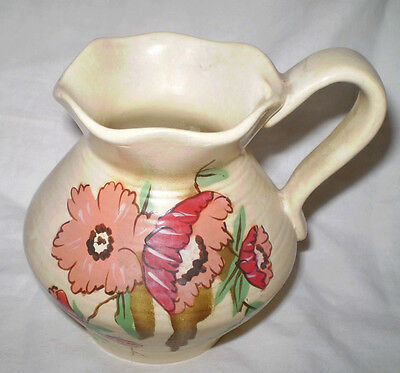 Pretty C1940's  Hand Painted Brentleigh Ware, Staffordshire  Java Jug