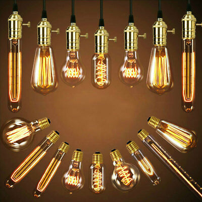 Vintage Retro Edison Antique Industrial Style Decorative Lamp Light Bulb 40W E27