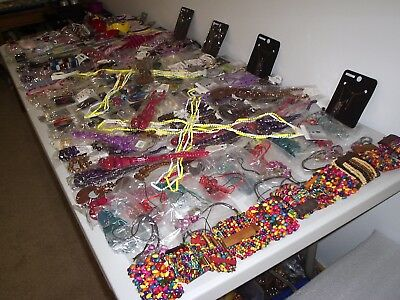 Large Job Lot Of New Mixed Costume Jewellery & Hair Accessories Necklaces (6)