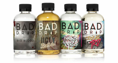 Bad Drip 120 ML0mg E LIQUID PREMIUM AMERICAN E JUICE free nic shots
