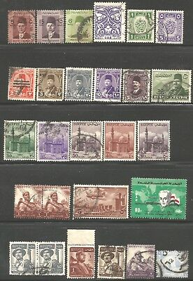 EGYPT 1920s onwards King Fuad - King Farouq era stamps, used lot