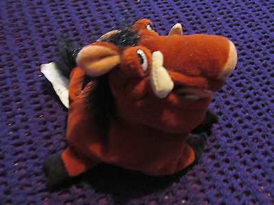 """Official Disney The Lion King Pumba Pumbaa The Warthog Plush 7"""" Beanie Soft Toy"""