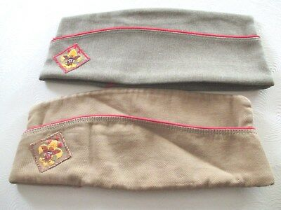 Vintage Lot Of 2 Boy Scouts Of America Garrison Style Hat/cap One Is Medium