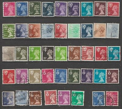 68 Uk Machin Regional Decimal Stamps All Different Ref To Scans Used