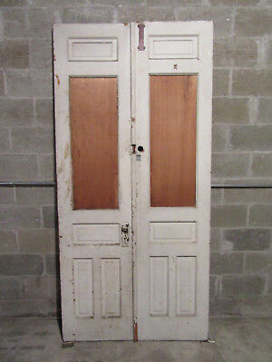 ~ ANTIQUE DOUBLE ENTRANCE FRENCH DOORS  ~ 44 x 91.75 ~  ARCHITECTURAL SALVAGE