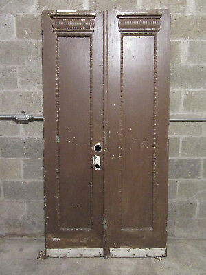 ~ ANTIQUE DOUBLE ENTRANCE FRENCH DOORS  ~ 41 x 81 ~  ARCHITECTURAL SALVAGE