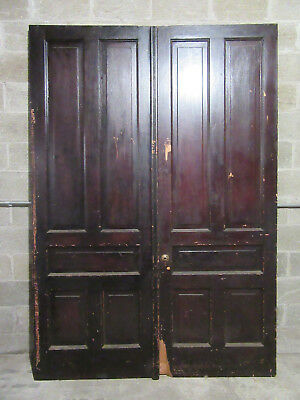 ~ ANTIQUE DOUBLE ENTRANCE FRENCH DOORS  ~ 66 x 95 ~  ARCHITECTURAL SALVAGE