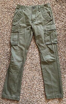 OLD NAVY Men s 30 x 34 Slim Fit Olive Green CARGO Pants Excellent Condition 775cde2b02ba