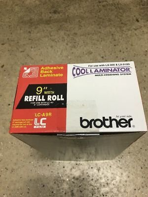 "Brother LC-A9R 9"" X 65.6ft Cool Laminator Refill Roll NIB LX-900 LX-910D, NIB"