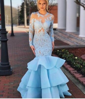 sherri hill 52044 size 4 blue gown 2018 spring collection 60% off original price