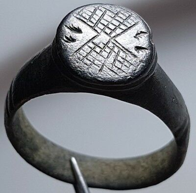 PERFECT ** MERCURY ** ROMAN Bronze RING ** WINGS **