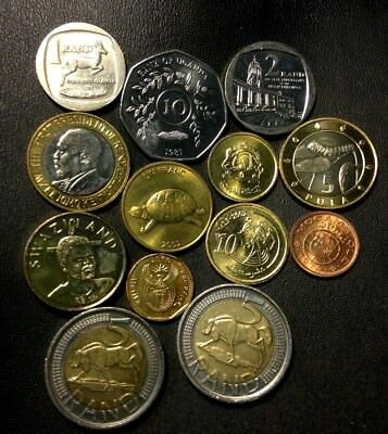 Old Africa Coin Lot - 13 AWESOME Uncirculated Coins - Great Mix - Lot #526