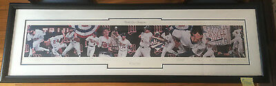 !987 Minnesota Twins Terrence Fogarty Limited Edition Autographed Painting-RARE